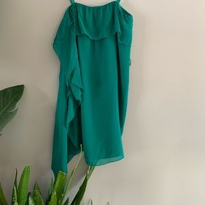 BCBG maxazria Emerald Green Silk Dress